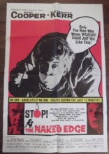 Naked Edge, Movie Poster, Gary Cooper, Deborah Kerr, Eric Portman, '61
